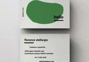 Blank Editable Business Card Templates Hello Business Card Design Editable Pdf Template with