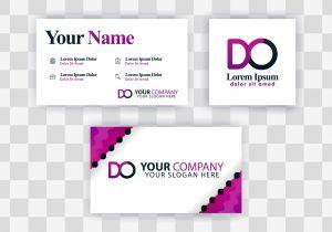 Blank Editable Business Card Templates Od Letter Logo Business Card Template