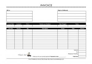Blank Email Template to Print Free Printable Invoices Templates Blank Printable