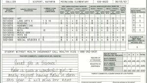 Blank High School Report Card Template Elementary School Report Card Template Report Card