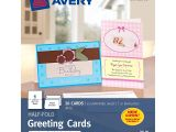 Blank Quarter-fold Greeting Card Template Avery Greeting Cards Inkjet Printers 20 Blank Cards and Envelopes 5 5 X 8 5 Folded 3265