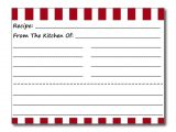 Blank Recipe Card Template for Word Blank Recipe Cards Red White Stripes Postcard Zazzle