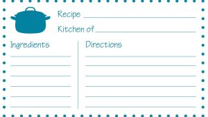 Blank Recipe Card Template for Word Free Printable Recipe Cards Printable Recipe Cards Recipe