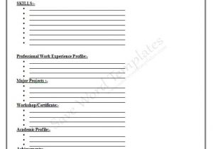 Blank Resume Template to Fill In Free Printable Fill In the Blank Resume Templates 16 7 Cv