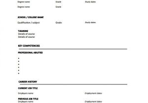 Blank Template Of Resume Blank Resume Template 15 Free Psd Vector Eps Ai
