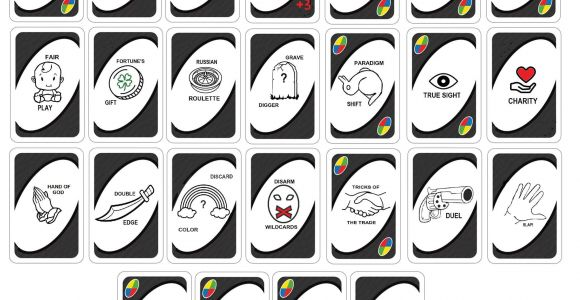 Blank Uno Wild Card Ideas Uno Customizable Wild Card Expansion Complete Version