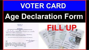 Blank Voter Id Card assam Voter Card Age Declaration form Fill Up In Hindi Ii Age A A A A A A A A A A A A A A A A A A A A A A A