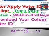 Blank Voter Id Card Download after Apply Voter Id Line L Track Your Status L