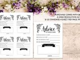 Blank Wedding Invitation Card Designs Advice Card Template Advice for the Newlyweds Marriage