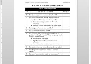 Blogger Product Review Template Work Product Review Checklist Template