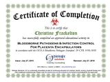 Bloodborne Pathogens Certificate Template Bloodborne Pathogens Certificate Template Free Download