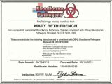 Bloodborne Pathogens Certificate Template Osha Bloodborne Pathogens Certification Best S Of Osha