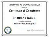 Bloodborne Pathogens Certificate Template Osha Training Certificate Template Images Certificate