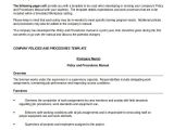 Board Policy Manual Template Board Policy Manual Template Policy and Procedure Manual