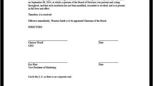 Board Resolutions Template Board Resolution
