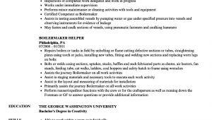 Boilermaker Resume Template Boilermaker Resume Resume Ideas