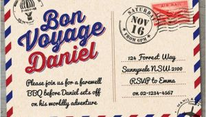 Bon Voyage Invitation Templates Free Items Similar to Bon Voyage Farewell Printable Invitation