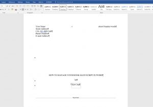 Book Manuscript format Template How to Manage and format Your Book Manuscript In Word