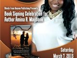 Book Signing Flyer Template Words by Amina Book Signing Celebration