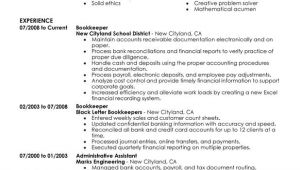 Bookkeeping Resumes Samples Unforgettable Bookkeeper Resume Examples to Stand Out