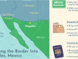 Border Crossing Card for Us Citizens Crossing the Border Into Nogales sonora Mexico