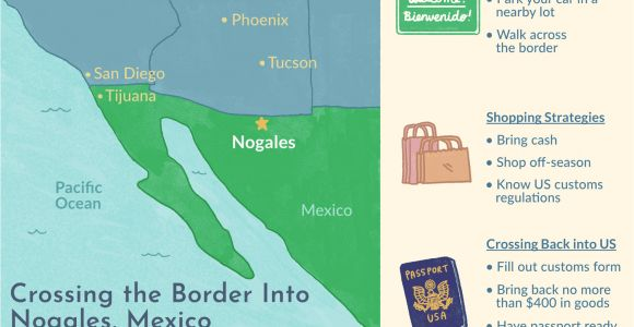 Border Crossing Card Number Location Crossing the Border Into Nogales sonora Mexico