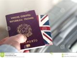 Border Crossing Card Vs Passport Hand Giving Passport at Border Control Stock Image Image