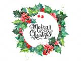 Border Design for Christmas Card Watercolor Christmas Set Christmas Watercolor Christmas