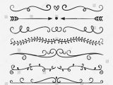 Border Designs for A Card Hand Drawn Vector Dividers Lines Borders and Laurels Set