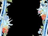 Border Images for Wedding Card Beautiful Blue Transparent Photo Frame Abstrak Seni Bingkai