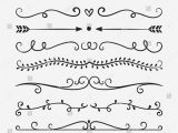 Border Images for Wedding Card Hand Drawn Vector Dividers Lines Borders and Laurels Set