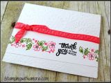 Border Punches for Card Making A Special Thank You Card Using Stampin Up Mixed Borders