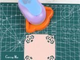 Border Punches for Card Making Flowers Edge Right Angle Hole Punch Embossing Device for Diy