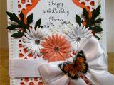 Border Punches for Card Making Martha Stewart Border Punch orange and White Handmade