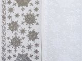 Border Stickers for Card Making 1 9 Aud Mixed Snowflakes Peel Off Stickers Small Large