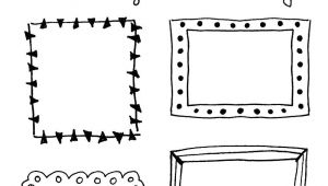 Border Stickers for Card Making 8 Hand Drawn Frames to Doodle Scrapbooking Ideen