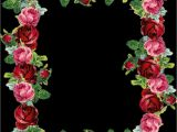 Border Stickers for Card Making Frames Borders Flora Floral Flowers Clipart Roses