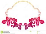 Border Wedding Card Clip Art Gradient Frame with Roses Raster Clip Art Stock Photo