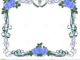 Border Wedding Card Clip Art Wedding Invitation Blue Roses Border Stock Image Image