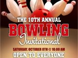 Bowling event Flyer Template Bowling League Poster