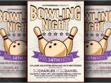 Bowling event Flyer Template Bowling Night Flyer Template Flyer Templates On Creative