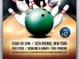 Bowling event Flyer Template Bowling tournament Flyer Bowling and Psd Flyer Templates