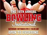 Bowling Flyers Templates Free Bowling League Flyer