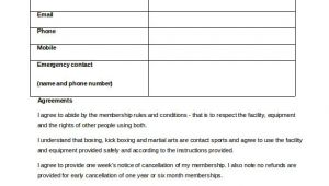 Boxing Contract Template 15 Gym Contract Templates Word Google Docs Apple