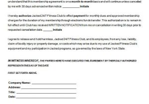 Boxing Contract Template Gym Contract Template 13 Free Word Pdf Documents