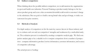 Boxing Gym Business Plan Template Fitness Business Plan and forms
