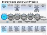 Brand Development Process Template Branding and Stage Gate Process Powerpoint Presentation