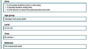 British Council Lesson Plan Template Tkt Blog Lesson Plan Example From the British Council