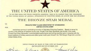 Bronze Star Certificate Template Dedication Of 3rd Battallion Memorial Ft Benning Feb 2002