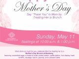 Brunch Flyer Template Free Mother 39 S Day Brunch Poster Flyer Template Mothers Day